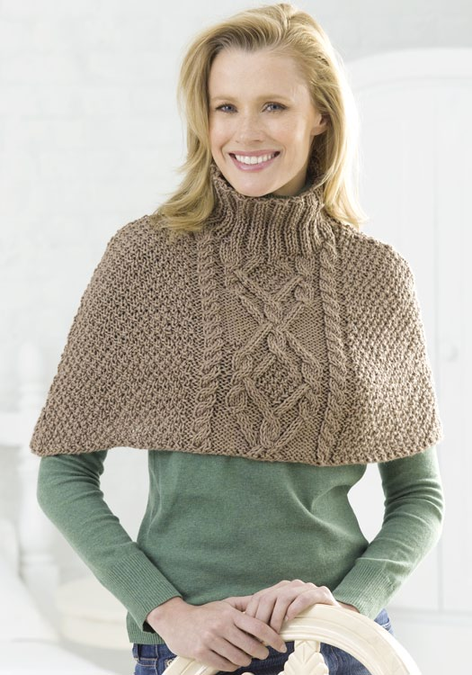 Pattern For Knitted Poncho : Sewing and Knitting Patterns Ideas: Poncho Knitting Pattern