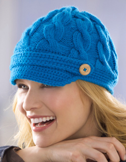 Blue Newsboy Cap Pattern