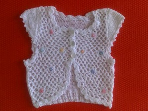 Knit and Crochet Baby Bolero