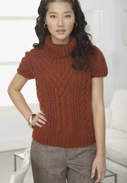 Knit Short Sleever Turtle Neck