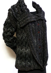 Knit Double Lapel Jacket