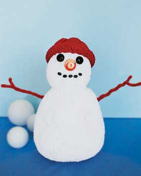 Knitting instructions--Snowman dishcloth | Taste of Home Community