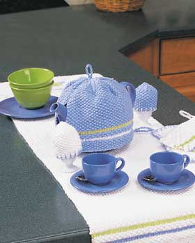 Knit Tea Cozy and Egg Cozies