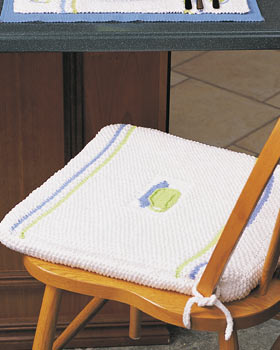 Knit Teacup Chair Cushion