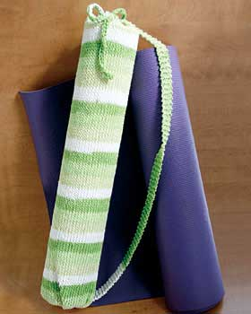 Striped Yoga Mat Bag Knitting Pattern Favecrafts Com