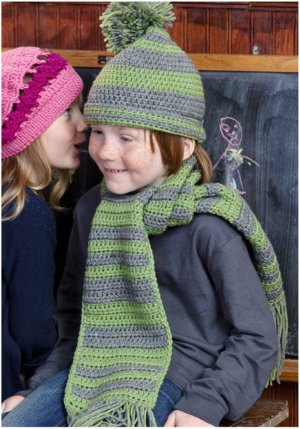 Little Boys Hat and Scarf Set FaveCrafts.com