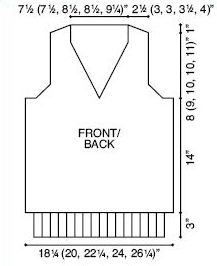 Male Vest Diagram