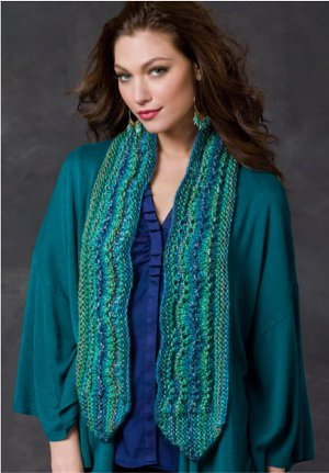 Ocean Waves Scarf Knit and Crochet All Your Accessories with New eBook from Red Heart Yarn