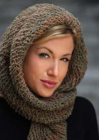 Open Weave Scarf Head Wrap
