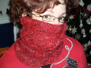 Peppermint Knit Cowl