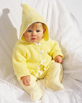 Pom Pom Knit Baby Jacket