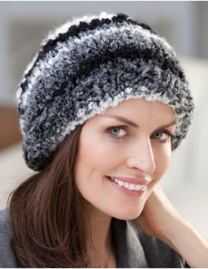 Free Knitting Patterns For Hats In The Round : Quick and Easy Knit in the Round Hat FaveCrafts.com