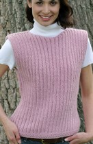 Pink Knit Ribbed Vest