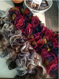 KNITTING A SCARF WITH SASHAY YARN Free Knitting Projects
