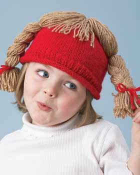 Silly Hair Knit Hat for Kids