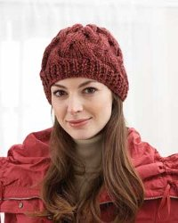Chunky Cable Hat Knitting Pattern | FaveCrafts.com