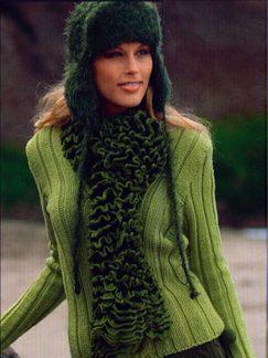 Flounce Scarf Knitting Pattern