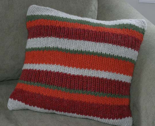 stripe floor pillow