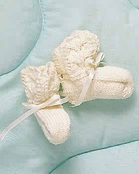 Knitting Patterns For Baby Booties