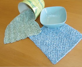 Textured Knit Dishcloths