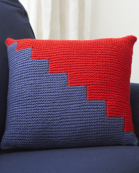 Two Tone Knit Pillow