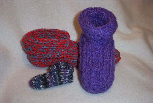Free Knitting Pattern For Slipper Socks : Pattern For Knitted Slippers - My Patterns