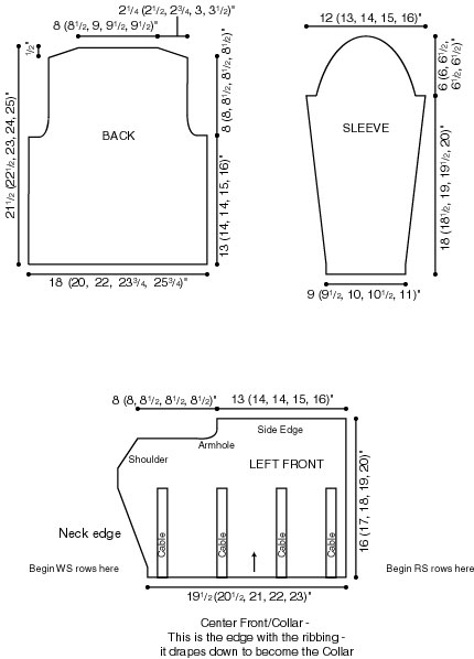 Drape Jacket Diagram