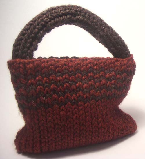 Knitted Fall Tote Bag
