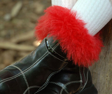 Fur Knit Boot Cuffs