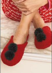 Holiday Pom Pom Slippers