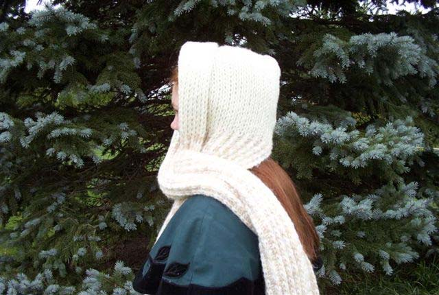 Knitting Board Hooded Scarf
