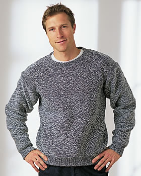 Knitting Patterns For Mens Half Sweaters : Basic Mens Sweater AllFreeKnitting.com