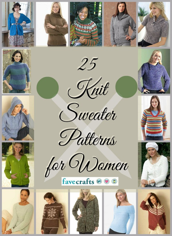 Knit Sweater Patterns for Women