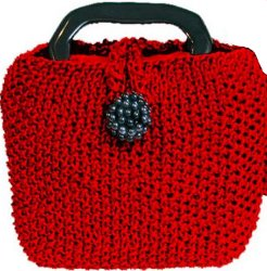 Little Red Knit Bag