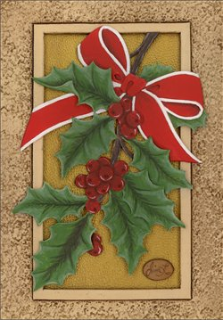 Leather Carved Christmas Card