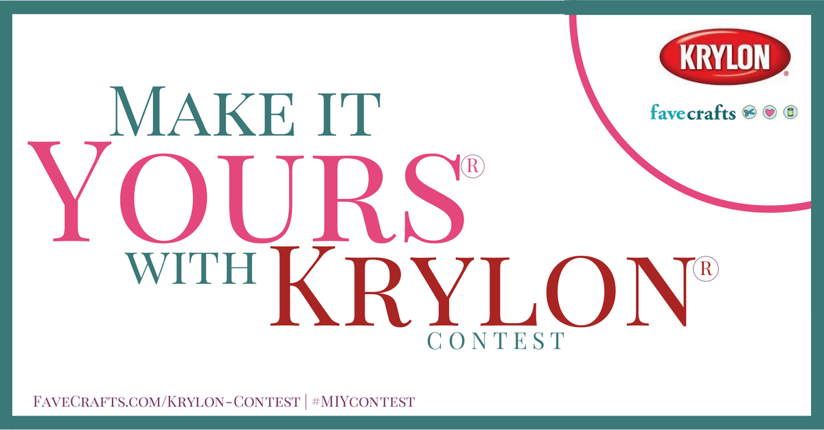 MIYcontest FaveCrafts Make It Yours with Krylon Crafting Contest