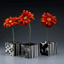 Modern Flower Cube Vases