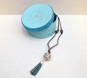 Monogram Jewelry Box and Statement Necklace