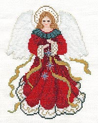 christmas angel crossstitch