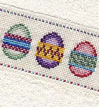 Easter Egg Cross-Stitch Towel
