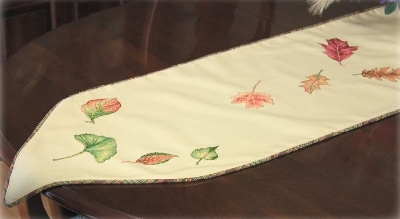 Waste Canvas Leaf Runner