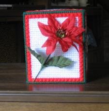 Poinsettia And Stars Tissue Box Cover Favecrafts Com