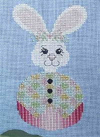 Roly Bunny Cross-Stitch Design