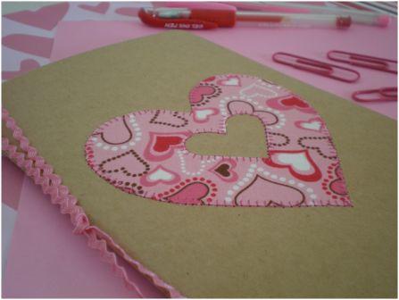 Custom Heart Embellished Notebook