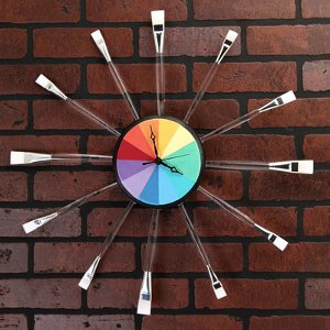 paintbrush clock