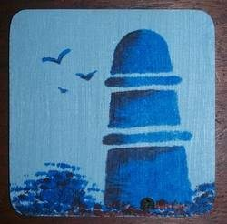 Paint Your Own Delft Coaster