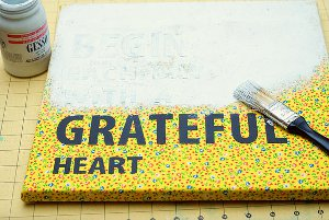 Grateful Heart Canvas
