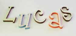 Painted Wall Letters for Kids' Room