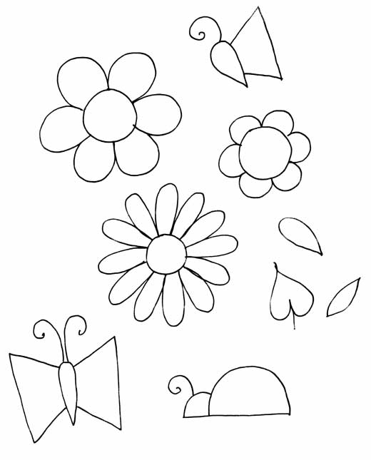 Flower Pattern To Trace