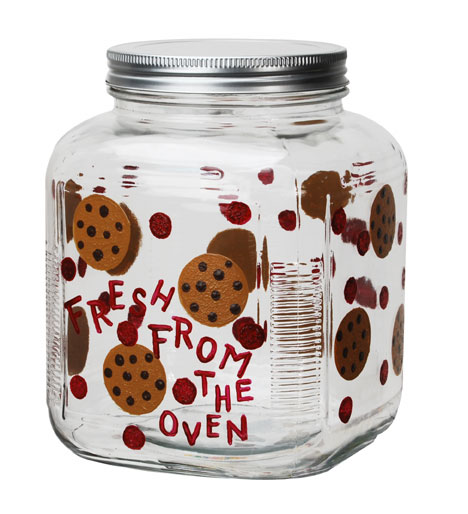 Enameled Glass Cookie Jar